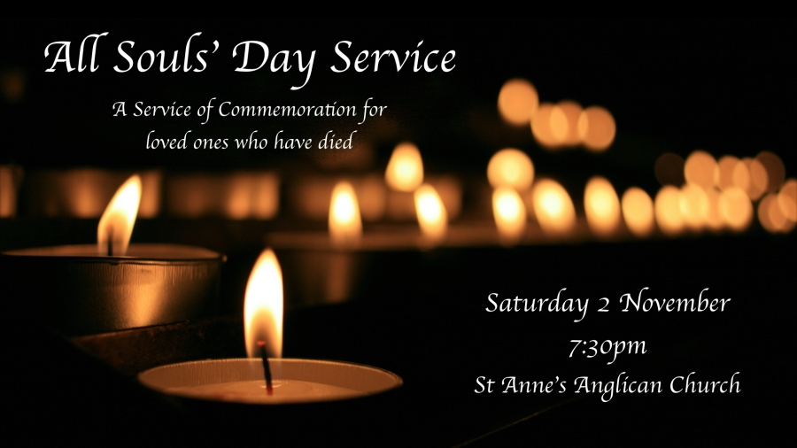 All Souls' Day Service advertising 2019